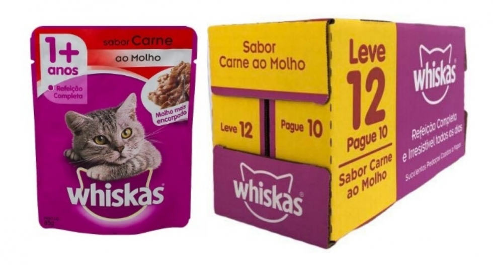 Sache Whiskas / Carne - 85 Gr - LEVE 12 PAGUE 10